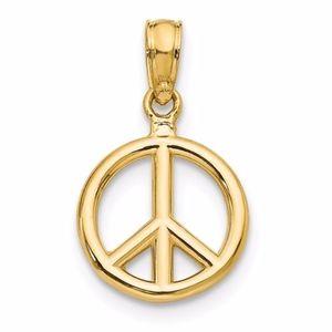 14K Peace Pendant